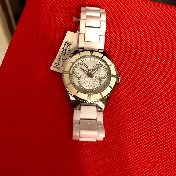 3b2a90002 Disney Accessories | New Park Pave Crystal Mickey Womens Watch ...